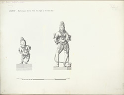 Dabhoi: Mythological figures from the temple at the Hira Gate f.21